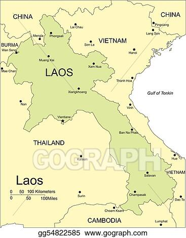 Vector illustration laos major cities and capital and surrounding laos major cities and capital and surrounding countries gumiabroncs Images