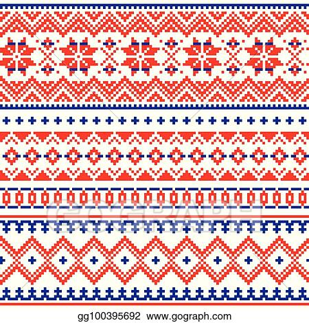 Vector Stock Lapland Vector Seamless Winter Pattern Sami People