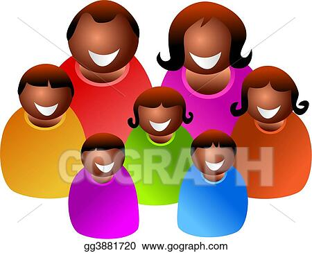 Drawing Large Family Clipart Drawing Gg3881720 Gograph