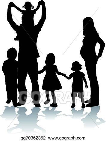 Vector Clipart Large Family Vector Illustration Gg70362352 Gograph