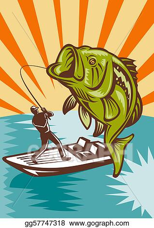 Stock Illustration Largemouth Bass Fish Fishing Clipart Drawing