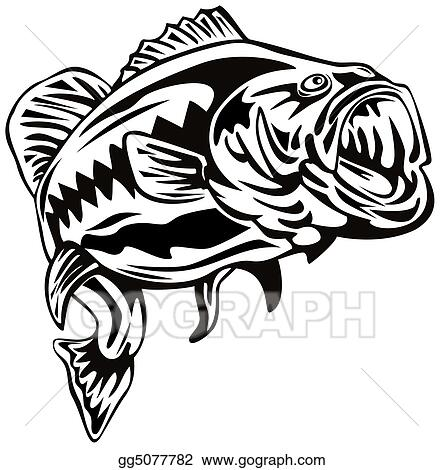 Drawing Largemouth Bass Clipart Drawing Gg5077782 Gograph