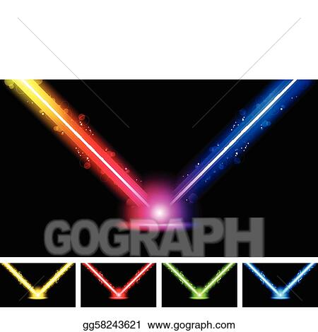 vector stock laser neon colorful lights stock clip art gg58243621 rh gograph com Laser Show Clip Art Laser Quest Clip Art