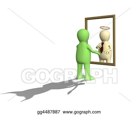 clipart latent character traits of the person stock illustration