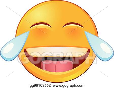 Laughing And Crying Emoji Or Emoticon Vector