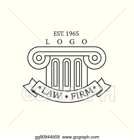 Vector Art - Law firm and lawyer office black and white logo ...