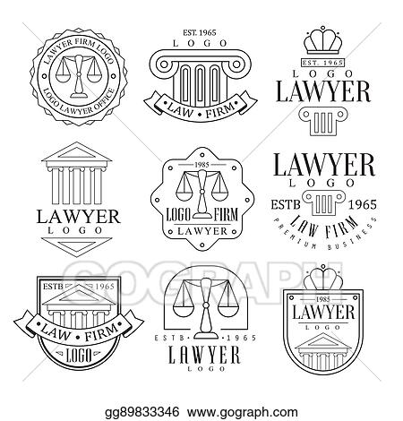 Vector Clipart - Law firm and lawyer office logo templates with ...