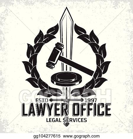 EPS Illustration - Law firm logo  Vector Clipart gg104277615 - GoGraph