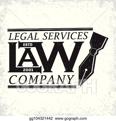EPS Illustration - Law firm logo  Vector Clipart gg104321442 - GoGraph