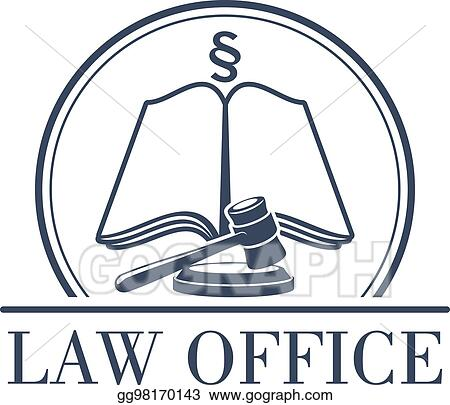 Vector Clipart Law Office Vector Legal Icon Of Gavel And Code