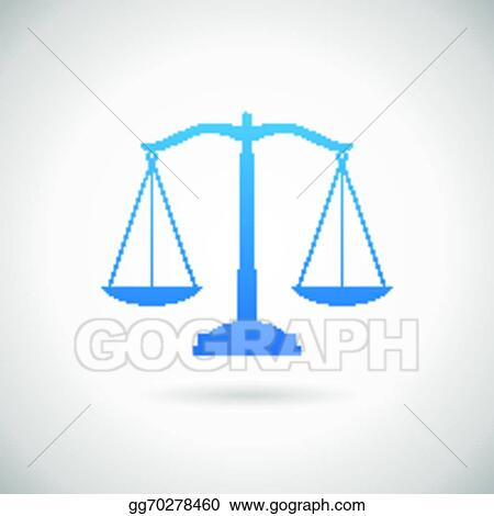 Vector Stock - Law symbol justice scales icon design template on ...