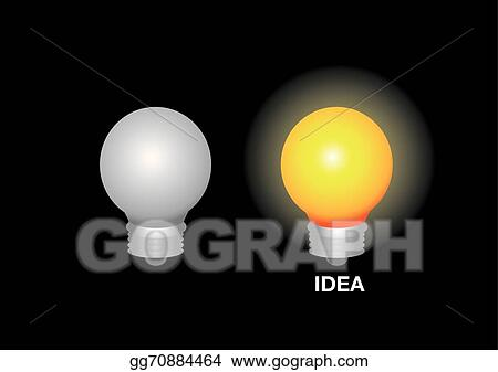 Clip art vector layout design of light bulbs stock eps