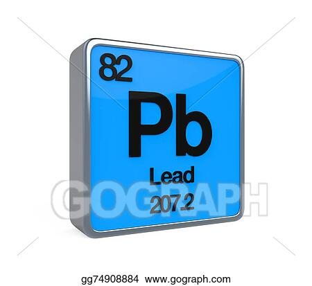 Stock Illustrations Lead Element Periodic Table Stock Clipart