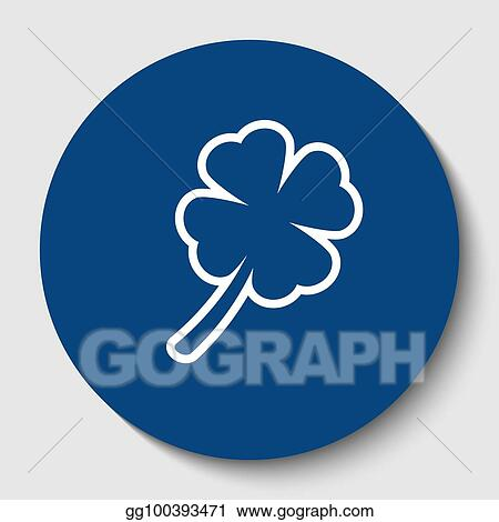 White Contour Icon In Dark Cerulean Circle At Background Isolated