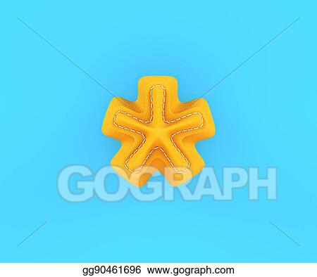 stock illustration leather yellow texture letter digit