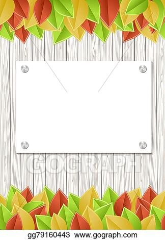 Eps Illustration Leaves Template Vector Clipart