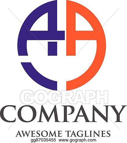 Vector Art Letter Aa Logo Eps Clipart Gg87035455 Gograph