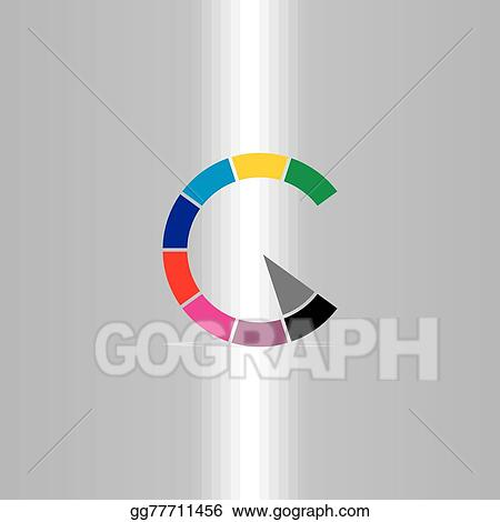 Clip Art Vector Letter C Color Copyright Symbol Stock Eps