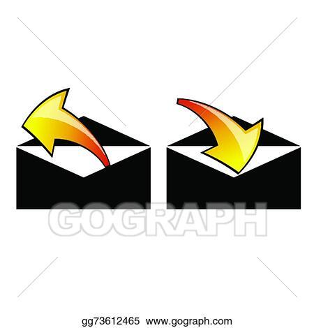 Vector Art Letter Envelope Vector Clipart Drawing Gg73612465