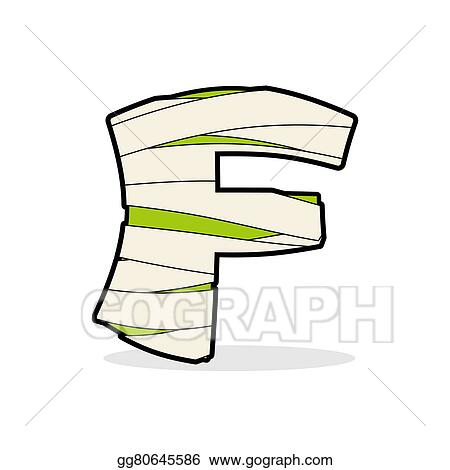 Abc Template | Vector Stock Letter F Egyptian Zombies Abc Sign Coiled Medical
