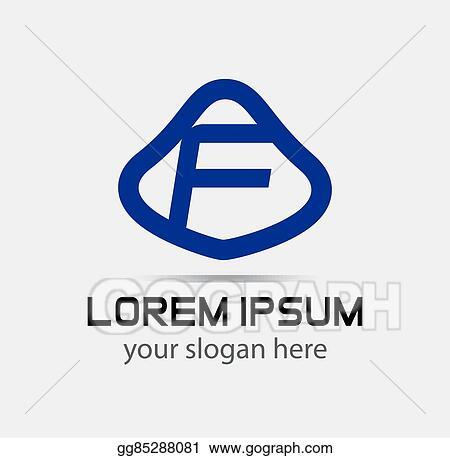 vector stock letter f logo design template stock clip art