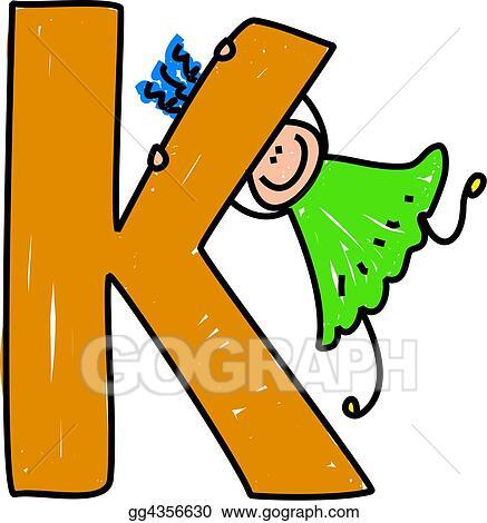stock illustration letter k girl clipart gg4356630 gograph rh gograph com letter a clipart lottery clipart