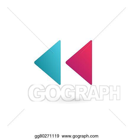 Vector stock letter k rewind logo icon design template elements letter k rewind logo icon design template elements spiritdancerdesigns Images