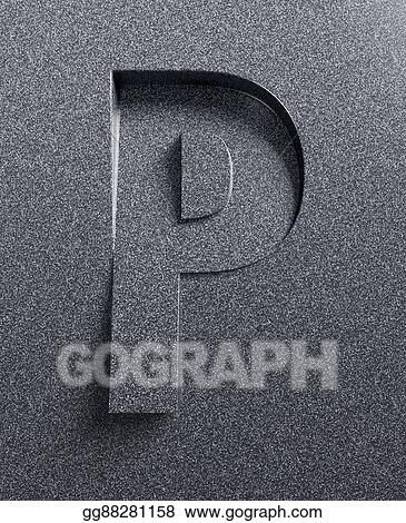 Drawing Letter P Slanted 3d Font Clipart Drawing Gg88281158 Gograph