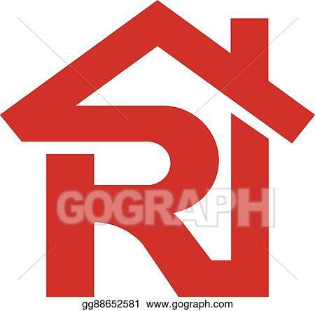 Vector Art Letter R Realtor Real Estate Logo Eps Clipart