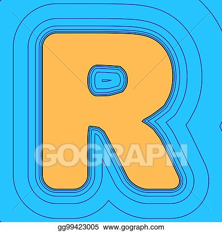 Vector Art - Letter r sign design template element  vector