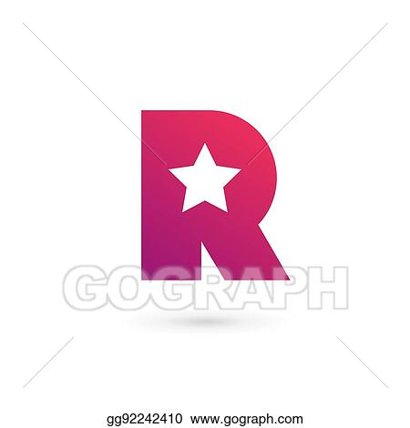 90f6a132 Vector Art - Letter r star logo icon design template elements. EPS ...