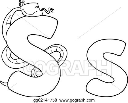 Vector Stock Letter S Snake Outlined Stock Clip Art Gg62141758