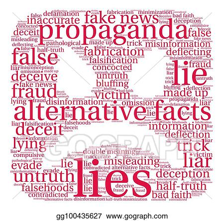 Vector Stock - Lies word cloud  Stock Clip Art gg100435627 - GoGraph