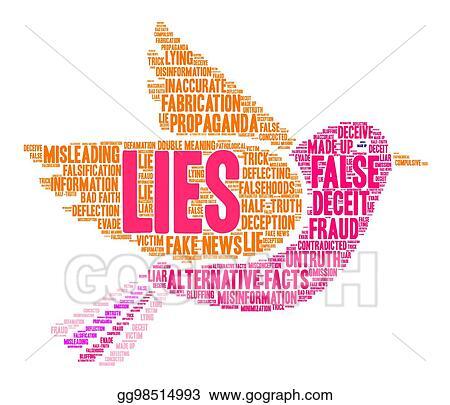 Vector Stock - Lies word cloud  Stock Clip Art gg98514993
