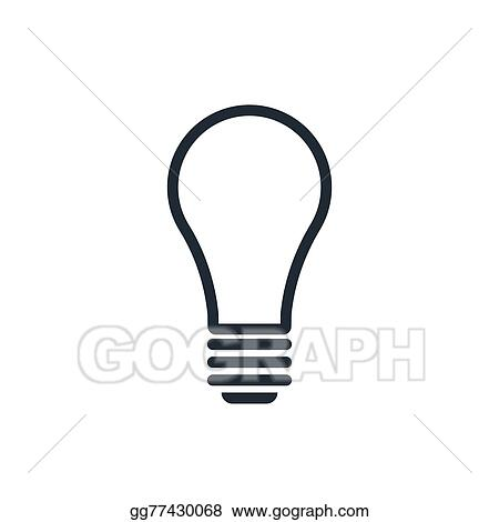 vector clipart light bulb icon vector illustration gg77430068 gograph light bulb icon vector illustration