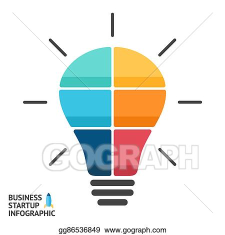 stock illustration light bulb infographic template for circle
