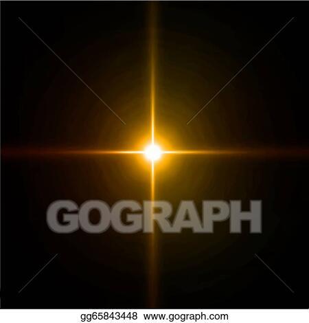 Lens flare vector. Clipart light burst fireworks