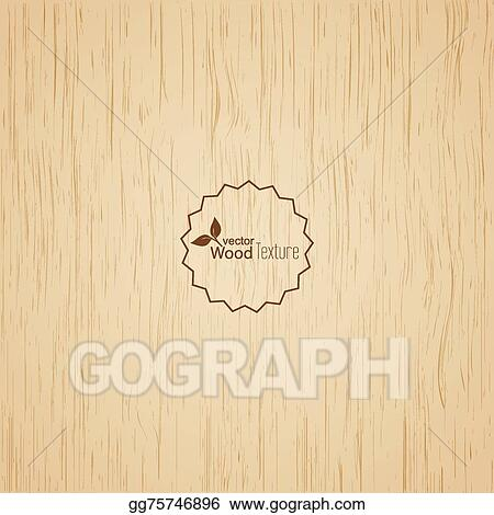 EPS Vector Light Wood Background Stock Clipart Illustration