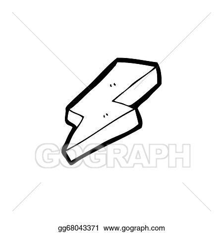 Stock Illustration Lightning Bolt Symbol Cartoon Clipart