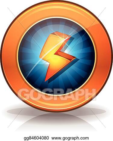 Vector Illustration - Lightning icons badge for game ui  EPS