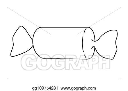 Vector Illustration Line Art Black And White Bonbon Eps