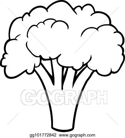vector art line drawing of a broccoli clipart drawing gg101772842 gograph https www gograph com clipart license summary gg101772842