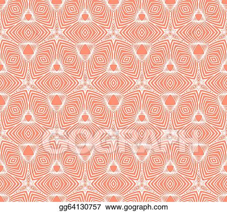 Vector Art Linear Geometric Pattern 50s Wallpaper Design