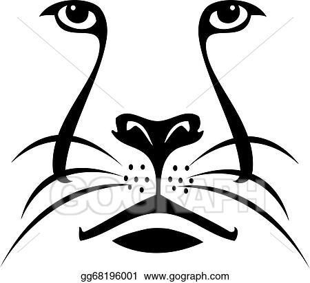 vector art lion face silhouette logo clipart drawing gg68196001 rh gograph com lion face images clip art cute lion face clipart