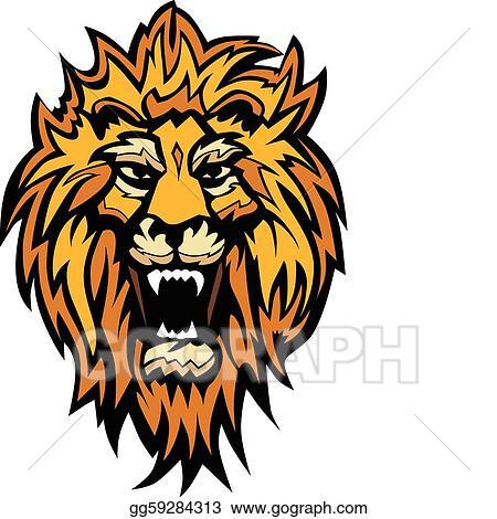 eps illustration lion head graphic mascot vector clipart rh gograph com