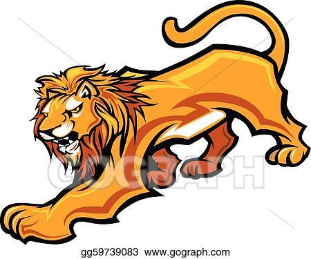 clip art vector lion mascot body vector graphic stock eps rh gograph com