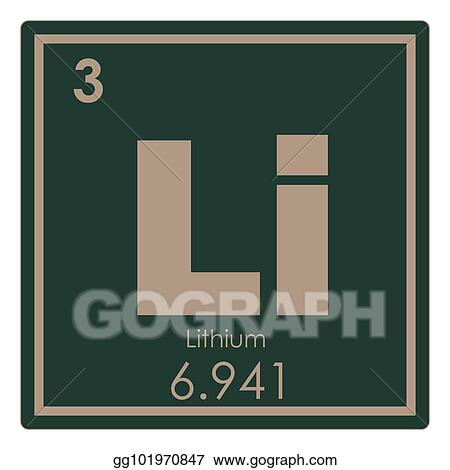 Drawings Lithium Chemical Element Stock Illustration Gg101970847