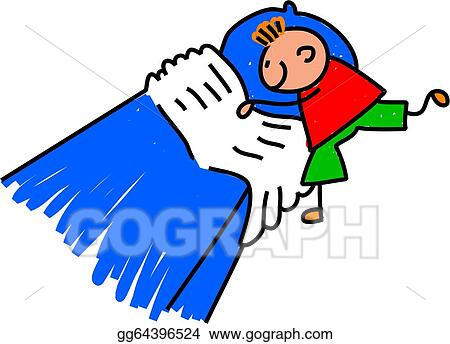 stock illustration little boy making his bed clipart drawing rh gograph com child making bed clipart girl making her bed clipart