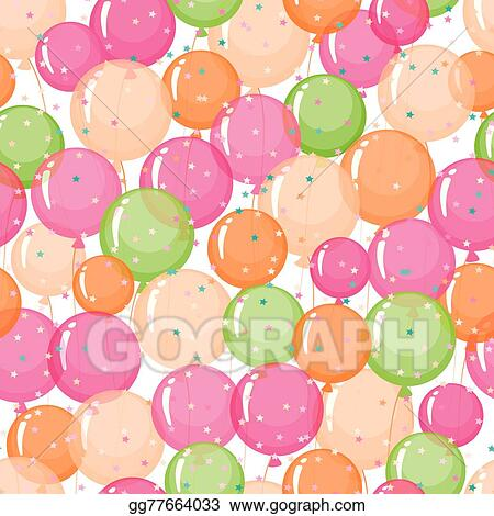 Vector Stock Little Funny Boy With Toys And Balloons Birthday