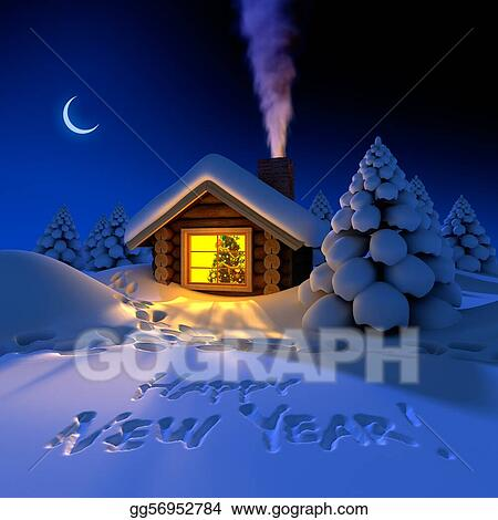 little house in the woods on new years night